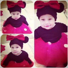 Cute little Minnie Mouse Outfit! made everything, right down to the shoes!