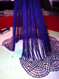 Lace Heart, Lace Jewelry, Bobbin Lace, Madame, Lace Detail, Tassel Necklace, Bobbin Lacemaking, Flowers, Plants