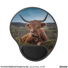 Scottish Highland longhorns Rancher Gel Mouse Pad