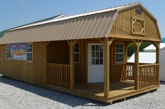 Deluxe Lofted Barn Cabin  http://gr8sheds.com/Treated%20Buildings.htm  http://www.i35cabins.com/deluxeloftedbarncabins.html