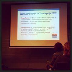 Mooie coachingonderzoeken; begrijpelijk dat ze de #NOBCO-#thesisprijs gewonnen hebben! :-) #myview #coaching #EMCC #groepscoaching #congres