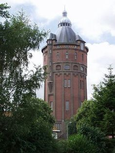 Watertower, Groningen, Netherlands. Wonderful Places, Beautiful Places, Amsterdam, Medieval Tower, Holland Netherlands, Tower House, Urban Setting, Water Tower, Adventure Awaits