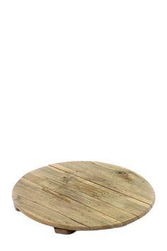 Plateau rond en bois