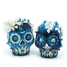 Salt & Pepper Couple Skull 00029