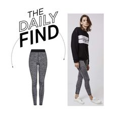 """Daily Find: Topshop Leggings"" by polyvore-editorial ❤ liked on Polyvore featuring Topshop and DailyFind"