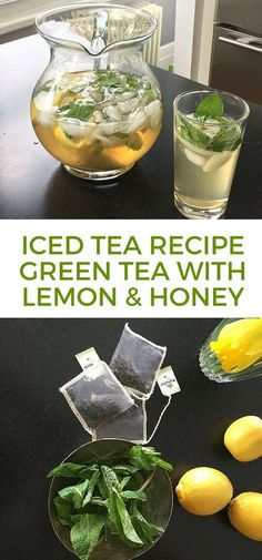 Iced tea recipes are becoming so trendy! To celebrate National Tea Day (April I'm sharing a video with two fun tea recipes. Tea is awesome for so many Green Tea Recipes, Iced Tea Recipes, Ice Green Tea Recipe, Lemon Honey Green Tea Recipe, Drink Recipes, Healthy Drinks, Healthy Eating, Healthy Recipes, Healthy Food
