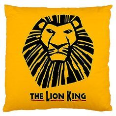 The Lion King Broadway Musical Throw Pillow Cushion Case - Doubled Sidez  17 x17