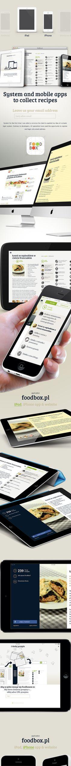 foodbox app on Behance