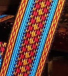 Простейшие цветные схемы для ткачества на дощечках