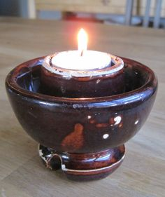 Vintage Ceramic Insulator  Candle holder by ContextReclaimed, $12.00