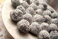 Paleo Coconut Truffle recipe for - Paleo Rules Paleo Food List, Paleo Vegan Diet, Paleo Desert Recipes, Whole Food Recipes, Diet Recipes, Diet Desserts, Paleo Dessert, Dessert Recipes, Sin Gluten
