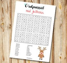 Ordpussel: Jultomtens renar   Gratis printables att skriva ut till jul St Patrick's Day, Learn Swedish, Printables, Keys, Christmas Crafts, English, Learning, Print Templates, Key