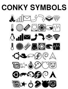 Conky Symbols by wiltur.deviantart.com