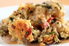 As seen on Mark's Daily Apple, voted best recipe it's back another year! It's the Best Ever Paleo Thanksgiving Stuffing Recipe by Raf of Between Two Forks! Paleo Thanksgiving, Thanksgiving Side Dishes, Thanksgiving Stuffing, Paleo Cornbread, Cornbread Stuffing, Sausage Stuffing, Paleo Stuffing, Sage Sausage, Homemade Cornbread