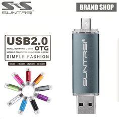 Suntrsi USB Flash Drive 64GB OTG USB Stick for Android Smart Phone External Micso USB Pen Drive 64GB Flash Drive Pendrive USB