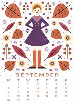 Carly Watts Art & Illustration: Free Printable: September Calendar