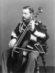 Grand Duke Konstantin Nikolayevich of Russia playing the cello