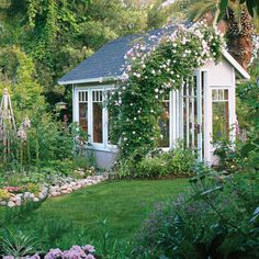 Garden cottage greenhouse - Favorite Backyard Sheds  - Sunset
