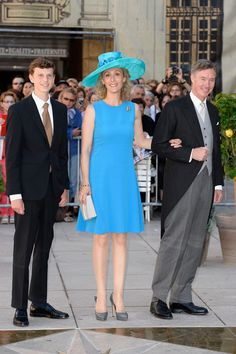 (L-R) Prince Paul-Louis, Princess Sibilla and Prince Guillaume attend the Religious Wedding Of Prince Felix Of Luxembourg & Claire Lademacher