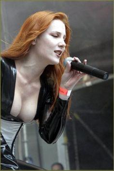 Sing your luscious, suckably sweet tits off! Chica Heavy Metal, Heavy Metal Girl, Metal Bands, Rock Bands, Rock Y Metal, Ladies Of Metal, Gothic Metal, Gothic Rock, Women Of Rock