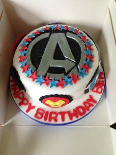 Avengers Cake-because I love my boyfriend, who is an avengers fan :)