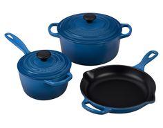 Le Creuset Of America 5 Piece Signature Enameled Cast Iron Cookware Set Mille