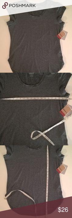 a4cd86dec30 reebok shirt size xl gray womens workout reebok womens gray workout top  size xl curved hem