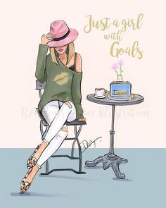 Just a girl with goals (Fashion Illustration Print Fashion Sketch prints Home Decor Wall Decor Fashionistas) is part of Just A Girl With Goals Fashion Illustration Print Fashion Etsy - Artwork copyright © 2018 Rongrong DeVoe Black Girl Art, Black Women Art, Black Girl Magic, Black Art, Art Girl, Art Women, Black Metal, Arte Fashion, Ideias Fashion