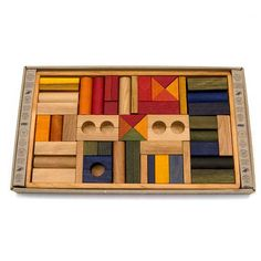 Large Building Block Set in  Rainbow Colors