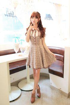 Mango Doll - Sweet Floral Plaid Jumper Dress, $42.00 (http://www.mangodoll.com/all-items/sweet-floral-plaid-jumper-dress/)