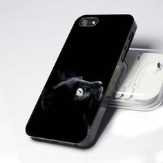 AA0015 Mysterious Stare Black Cat design for iPhone 5 case