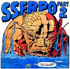 Sserpo, a proto-Thing styled Kirby monster, who grew too big for one planet to hold him! From 'Amazing Adventures' #6