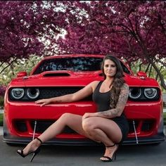 Sexy Cars, Hot Cars, Carros Vw, Mopar Girl, Top Luxury Cars, Hot Rides, Hot Brunette, American Muscle Cars, Dodge Challenger