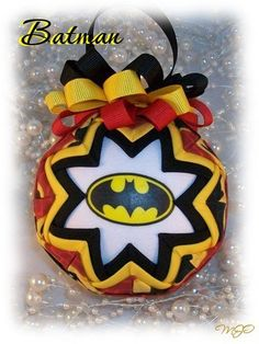 Batman Superhero Unique Handmade Keepsake Quilted Christmas Ornament on Etsy, $18.00