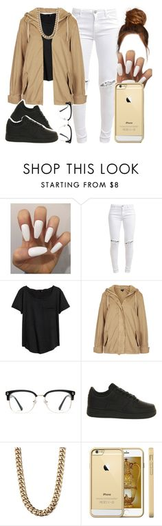 """"""".......😂😂😂"""" by foreverkaylah ❤ liked on Polyvore featuring FiveUnits, Topshop, GlassesUSA, NIKE and Palm Beach Jewelry"""