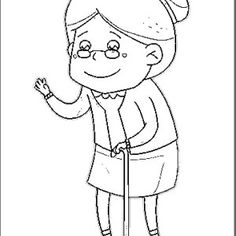 Scenariusz na Dzień Babci i Dziadka oraz wiele innych - Pani Monia Pattern Art, Old Women, Smurfs, Scrapbooking, Boys, Fictional Characters, Grandchildren, Woman, Old Ladies