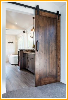 50 ideas sliding door design modern master bath for 2019 Sliding Bathroom Doors, Sliding Door Design, Sliding Doors, Bedroom Barn Door, Barn Door Closet, Home Design, Bath Design, Interior Design, Porta Diy
