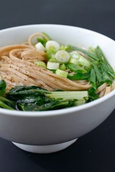 Easy udon with bok choy, scallion, and soba noodles | 31 New Noodle Dishes To Try