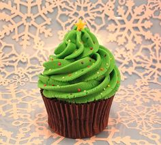 Cupcakes for Christmas.  I made these cupcakes for the first time last week and they were very delicious. If you're a doubts in making something sweet for your family these cupcakes are the perfect solution for you. You can serve this cupcakes at any time of day. YUMII!!!