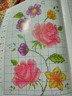 λουλουδια workout beginner tips - Workout Plans Cross Stitch Rose, Cross Stitch Flowers, Cross Stitch Embroidery, Workout For Beginners, Hobbies And Crafts, How To Plan, Workout Plans, Floral, Tips