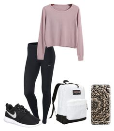 """Untitled #22"" by kaylaphillips77 ❤ liked on Polyvore featuring NIKE, Chicnova Fashion, JanSport, Casetify, women's clothing, women, female, woman, misses and juniors"