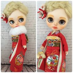 Blythe Outfit youneの着物 お振袖10点セット_画像2