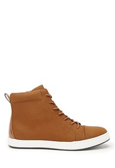 Faux Leather High-Tops #forever21men