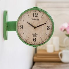 our beautiful colored mint clock is a station double sided clock that will be the perfect wall clock for any space for more visit decor steals