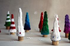 Christmas Trees. Fairy Forest - easy pdf knitting patterns. Christmas Ornament. New Year Ornament.