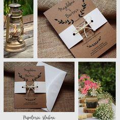 Zaproszenie z użyciem papieru ekologicznego w sam raz na wesele w stylu rustykalnym! #napapierze #wedding #invitation #eco #rustic #eko #handmade #zaproszenia #ślubne #love