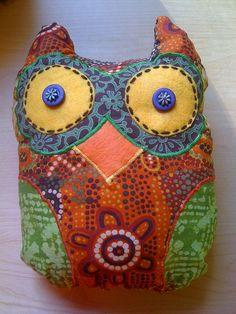 fabric scrap owl