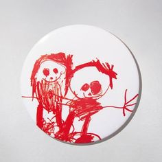 Fridge Magnet - Little People - Red. Łucja - she is a young artist but we can't be indifferent to her creativity :) $10 zł.