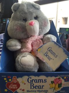 Grams Bear at Too Groovy Toys 1980s Toys, Never Grow Up, Care Bears, Mlp, Infant, Childhood, Teddy Bear, Collections, My Love