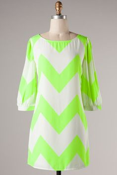 FashionCupcake, Designer Clothing, Accessories, and Gifts Chevron Dress, Junior Outfits, Cute Dresses, Fabulous Dresses, Women's Fashion Dresses, Boutique Clothing, Spring Outfits, Cool Outfits, Green Chevron